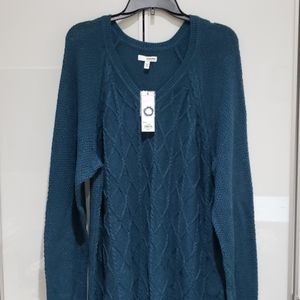 Plus Size Trellis Cable knit Sweater 2X NWT